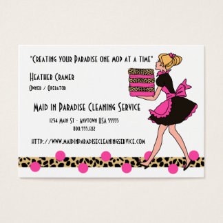 Printed Cleaning Service Business Cards Templates Zazzle