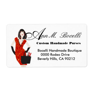 Leopard Print  Clothing Handmade Business Label