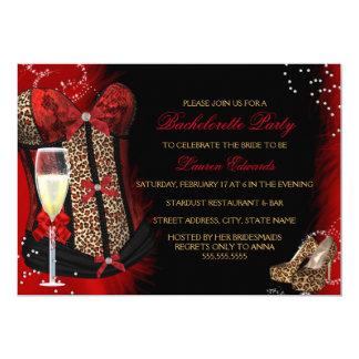 Leopard Print Corset Bachelorette Party Invitation