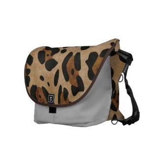 LEOPARD PRINT COURIER BAG