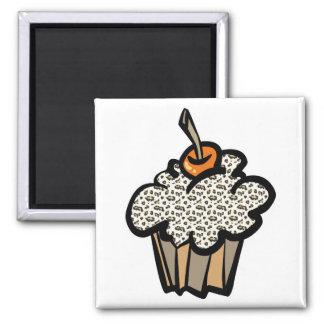 leopard print cupcake refrigerator magnet