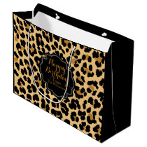 Leopard Print Custom Happy Birthday Gift Bag