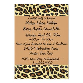 """Leopard Print Custom Invitation 4.5"""" X 6.25"""" Invitation Card"""