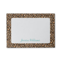 Leopard Print Custom Monogram Post-it Notes