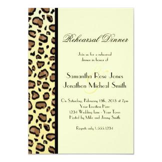 Leopard Print Custom Rehearsal Dinner 4.5x6.25 Paper Invitation Card