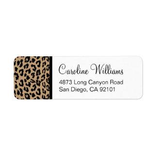 Leopard Print Custom Return Address Label