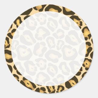 Leopard Print Customisable Sticker