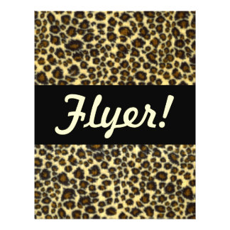 Leopard Print Customizable Flyer