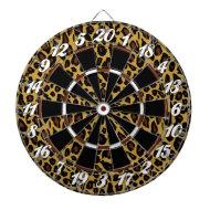 Leopard Print Dart Board