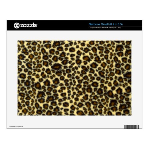 Leopard Print Decal For Netbook