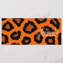 Leopard Print Design Rack Card
