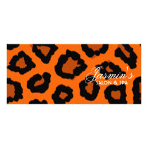 Leopard Print Design Rack Card