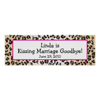 Leopard Print Divorce Party Banner