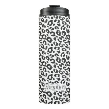 Beach Themed Leopard Print DIY Name Travel Tumbler