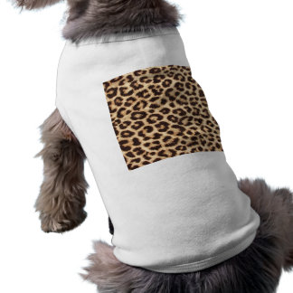 Leopard Print Doggie Ribbed Tank Tee Pet T Shirt