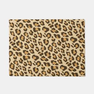 Leopard Print Door Mat