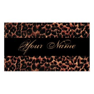 Leopard Print Elegance Business Card