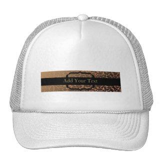 Leopard Print Elegance Trucker Hat