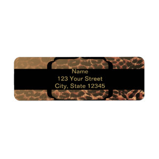 Leopard Print Elegance Return Address Labels