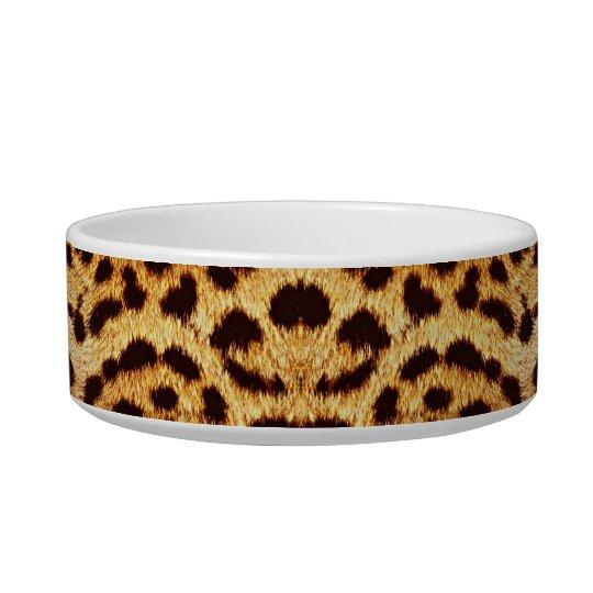 Leopard print elegant fur bowl