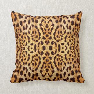 Leopard print elegant fur pillow