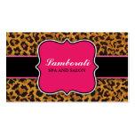 Leopard Print Elegant Modern Classy Hot Pink Business Card