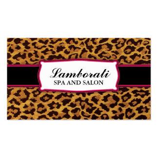 Leopard Print Elegant Modern Classy Professional Business Card Template