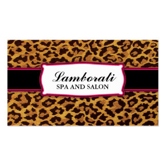 Leopard Print Elegant Modern Classy Professional Double-Sided Standard Business Cards (Pack Of 100)