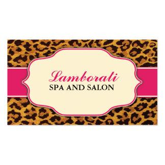 Leopard Print Elegant Modern Fashion Classy Business Cards