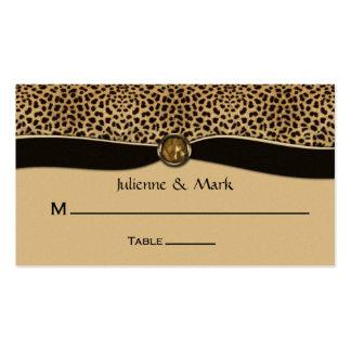 Leopard Print FAUX Ribbon Jewel Place Cards Business Cards