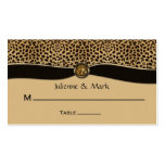 Leopard Print FAUX Ribbon Jewel Place Cards Double-Sided Standard Business Cards (Pack Of 100)