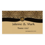 Leopard Print FAUX Ribbon Jewel Wedding Favor Double-Sided Standard Business Cards (Pack Of 100)