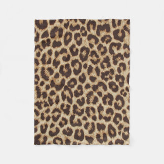 Leopard Print Fleece Blanket