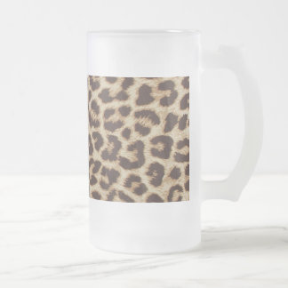 Leopard Print Frosted Glass Mug