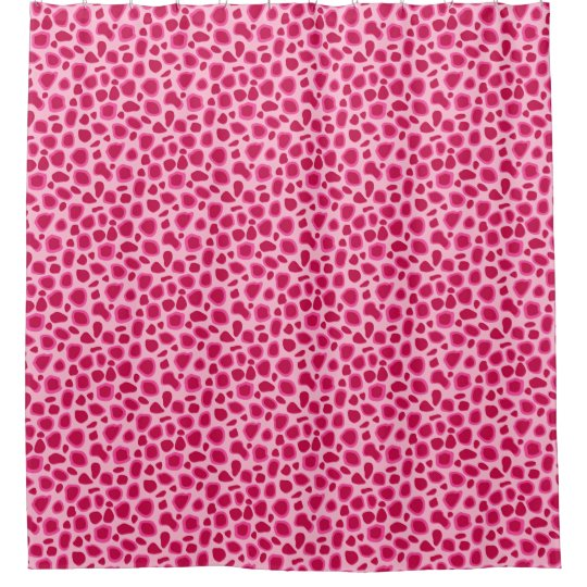 Leopard Print Fuchsia And Light Pink Shower Curtain