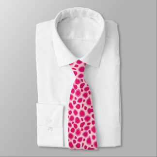 Leopard Print - Fuchsia and light pink Tie