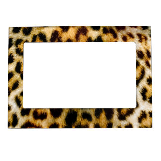 Leopard Print Fur Chic Texture Pattern Magnetic Picture Frame