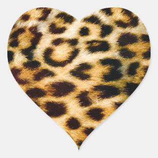 Leopard Print Fur Chic Texture Pattern Heart Sticker