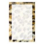 Leopard Print Fur Texture Design Custom Stationery