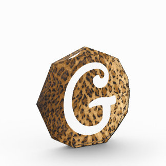Leopard Print G monogram initials Award