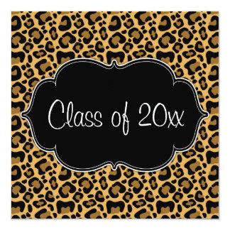 Leopard Print Graduation Party Announcement