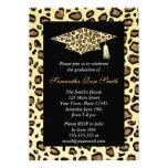 Leopard Print Graduation Party Personalized Invite