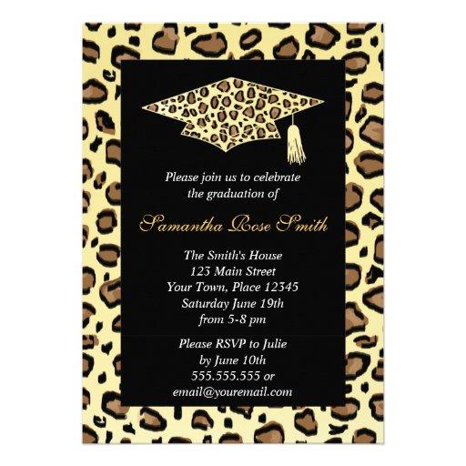 Personalized Cheetah print Invitations CustomInvitations4Ucom