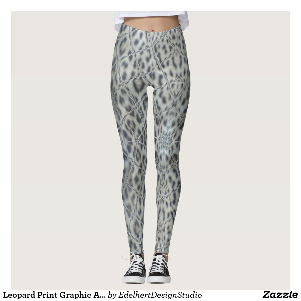 Leopard Print Graphic Art Legging