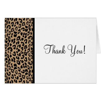 Leopard Print Greeting Cards