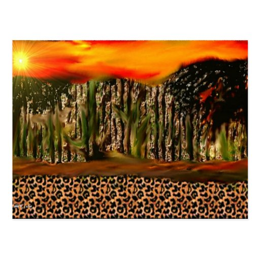 Leopard Print Greeting Cards Postcard