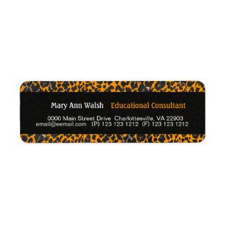 Leopard Print Grunge Label