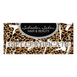 Leopard Print Hair & Beauty Gift Certificate Full Color Rack Card