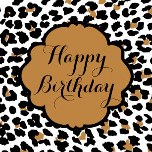 leopard print birthday stickers sticker designs zazzle