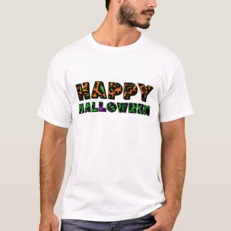 Leopard Print Happy Halloween T-Shirt